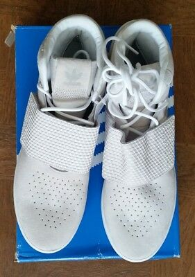 Men's Adidas shoes. Tubular invader strap. White suede and fabric. Size 12.