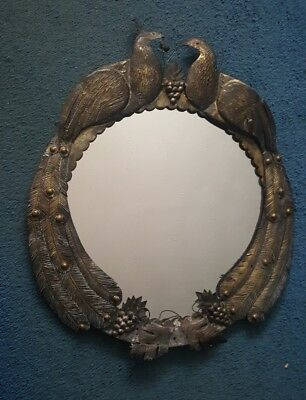 Sergio Bustamante Peacock Mirror Signed