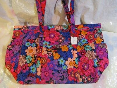 4656b18e64f7 VERA BRADLEY GET Carried Away Tote Bag XL NEW TAGS Floral Fiesta -  64.99