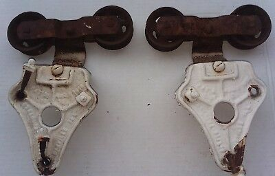 Lot Of 2 Antique Ornate ALLITH PROUTY CO. MYERS Barn Door Rollers