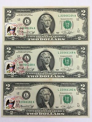 1976 Two Dollar Notes (3)