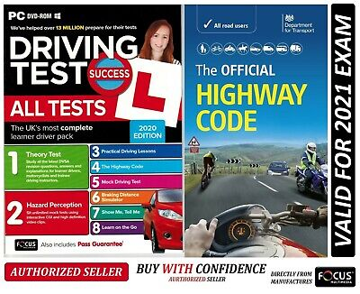 2018 Driving Theory Test & Hazard CD DVD+Official DVSA Highway Code Book Atpc+hw