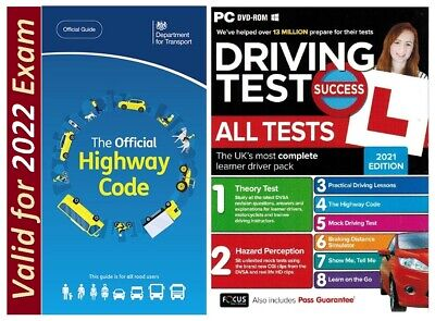 2019 Driving Theory Test and Hazard CD DVD+Official DSA Highway Code Book AtpcHw