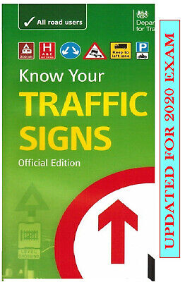DVSA DSA OFFICIAL KNOW YOUR TRAFFIC SIGNS PAPERBACK UK 2019 TEST Trfc