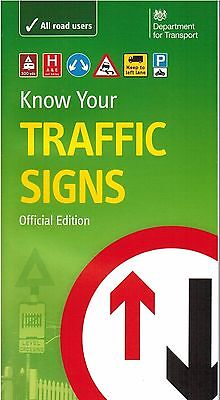 KNOW YOUR TRAFFIC SIGNS UK PAPERBACK , OFFICIAL BOOK, UP TO DATE FOR 2019 TrFc