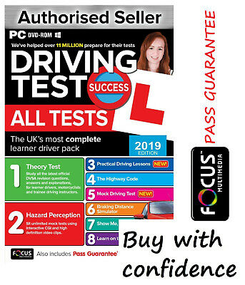 Driving Theory Test & Hazard Test - CAR. PC DVD CD ROM - NEW 2019 EDITION ATpc