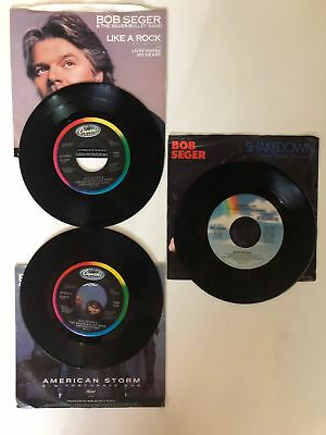 "BOB SEGER  45rpm  Lot of 3 records  7"" Vinyl VG+ JUKEBOX"