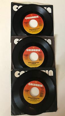 "BRUCE SPRINGSTEEN  45rpm  Lot of 3 records  7"" Vinyl VG+ JUKEBOX"