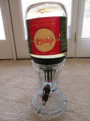 1917 Syrup Dispenser For Coca Cola And Other Beverages, W/syrup Bottle