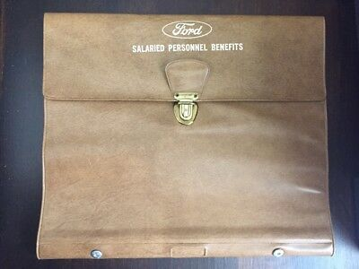 Ford Motor Company Employee Documents Folder Ford Advertising Logo 1950s