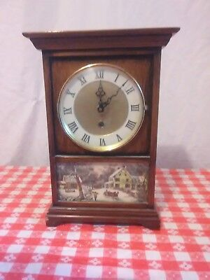 "Vintage 8 Day Clock Williams Manufacturing 12"" x 8"" No Key )(*^@@C4"