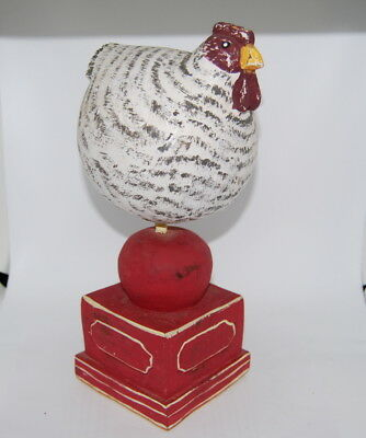 "Foreside Rustic Farmhouse Country Primitive Folk Art Wooden Rooster - 13"" High"