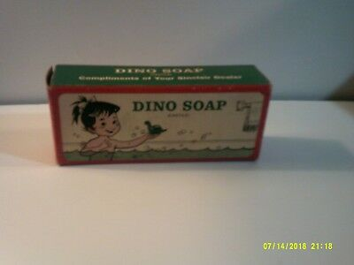 Vintage Sinclair Oil Company Dino soap, castile soap in the shape of a Dinosaur.
