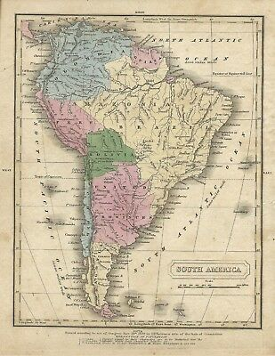 1829 Map of South America - 72X