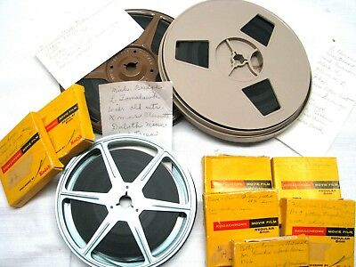 Vintage Lot S/8mm Films Home Movies,  approx. 2000 Feet  1960s  Family Estate