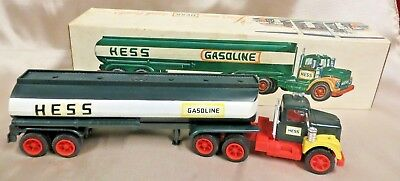 1968 Hess Tanker Truck with Box    Working Headlights     VG