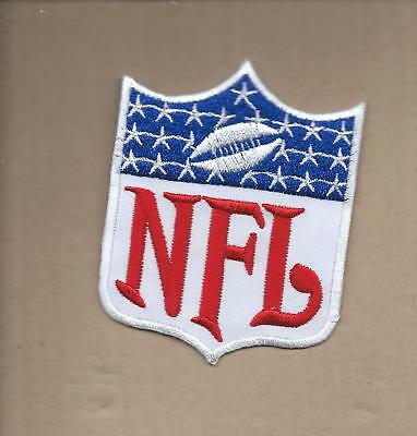 New 2 5/8 X 3 1/4 Inch Retro Nfl Logo Shield Iron On Patch Free Shipping