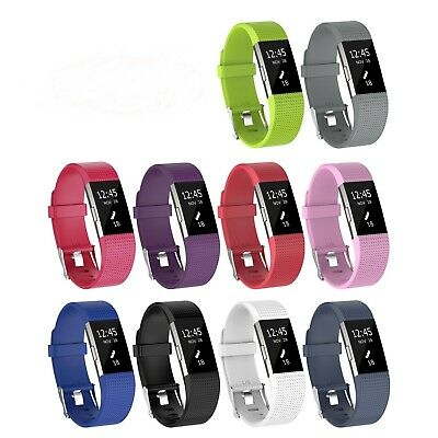Wristband For Fitbit Charge 2 Watch Replacement Silicone Accessories 10 Pack
