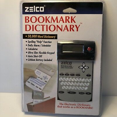Zelco Bookmark Dictionary Calculator Alarm Scheduler Graphite Digital NEW IN BOX