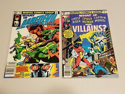 What if..? Lot of 2 Daredevil SHIELD agent? Ghost Rider Spiderwoman Capt. Marvel