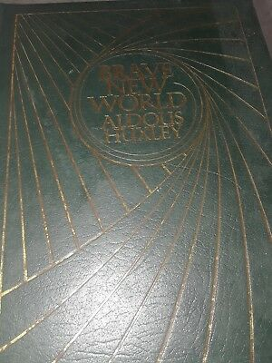Brave New World, Aldous Huxley, Forest Green Leather Binding, Easton Press 1978