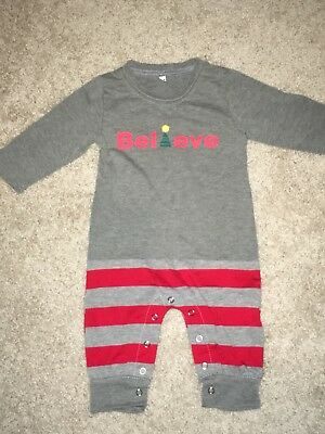 Family Christmas Matching PJ's - BELIEVE - Baby's First Christmas