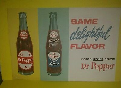 1963 Dr Pepper New Old Stock Poster