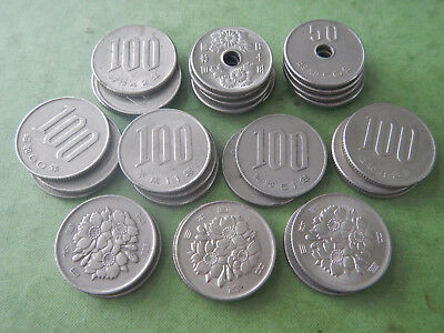 Lot of 2,500 FACE Japanese Yen CURRENT SPENDABLE 30 Coins