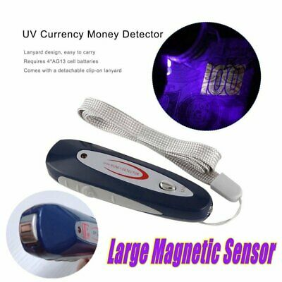 2 in 1 Counterfeit Money UV Detector Tester Dollar Bill Fake Currency Checker HQ