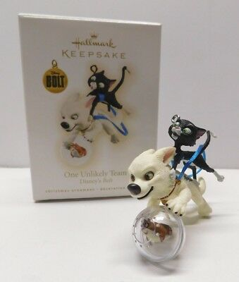 Hallmark Keepsake Ornament 2009 One Unlikely Team * Bolt ** FREE SHIPPING  **