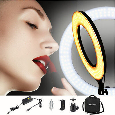 ZOMEI LED Ring Light Dimmable 5500K Lighting Photography Make-up phone Camera