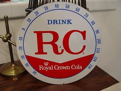Vintage NOS Unused Royal Crown RC Pam Thermometer Face Only Soda Sign