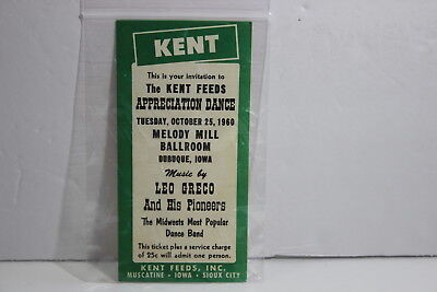 Vintage 1960 Kent Feeds Customer Apperication Dance Invite Dubuque Iowa Melody