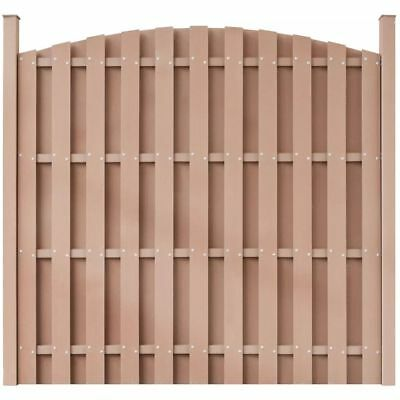 WPC Fence Panel Round Brown
