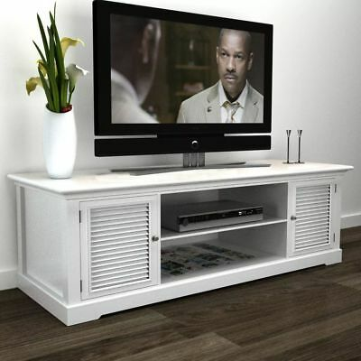 White Wooden TV Stand Home Living Room Entertainment Console Furniture Decor NEW