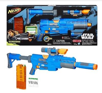 NEW! Star Wars Rogue One Nerf Captain Cassian Andor Eadu Deluxe Blaster Toy Gun