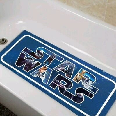 Tub Mat Protection Bathroom Shower Suction Non Anti Slip Safety Blue Star Wars