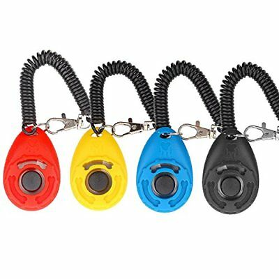 Dog Clicker, 4 Pcs, Multi-color training Clicker With Wrist Strap For Dog Cat Ho