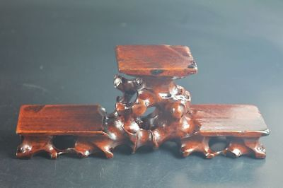Chinese antique wooden stand table hardwood Triple show display shelf