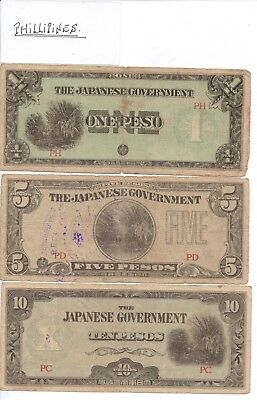 JAPANESE INVASION NOTES - PHILLIPINES - 7 notes in total