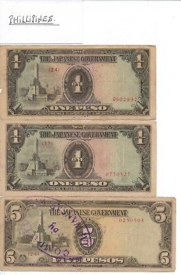 JAPANESE INVASION NOTES - PHILLIPINES - 8 notes in total