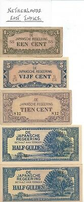 JAPANESE INVASION NOTES - NETHERLANDS-EAST INDIES - 9 notes in total