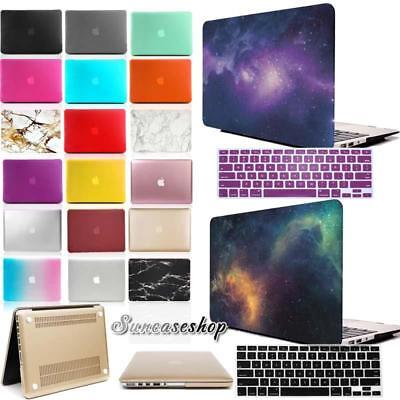 """Rubberized Hard Case Cover With Keyboard Skin for MacBook air 11.6"""" 13.3"""" inch"""