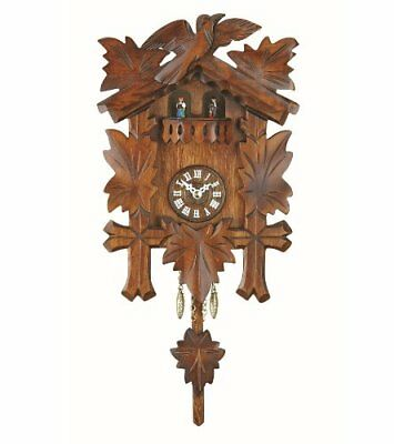 Kuckulino Black Forest Clock With Quartz Movement And Cuckoo Chime, Turning Danc