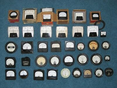 Lot Of 39 Assorted Vintage Meters And Gauges