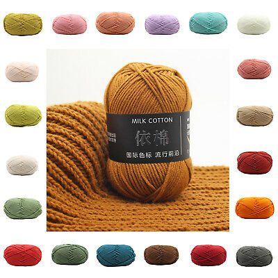 New 62 Colors Super Soft Mixed Job CottoHand Knitting Scores Crochet Wool Yarn