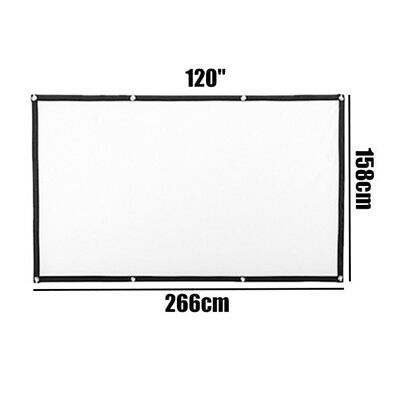 """Projector Screen Movie Projection Portable Durable Home 72""""/84""""/100""""/120"""" Mini"""