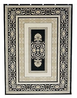New Saray Rugs Traditional Quality Palace Rug 7652 BLACK 200cm x 290cm