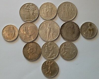 CZECHOSLOVAKIA / Lot of 12 Silver Coins !!