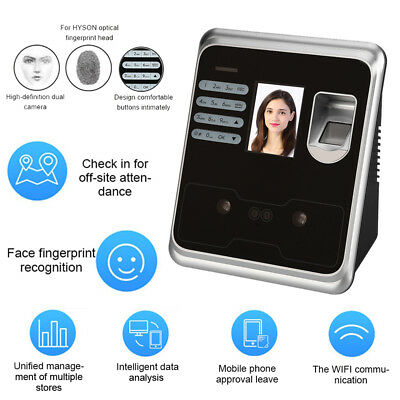 """2.4"""" Biometric Face Reader Access Control Time Scanner Attendance Machine System"""